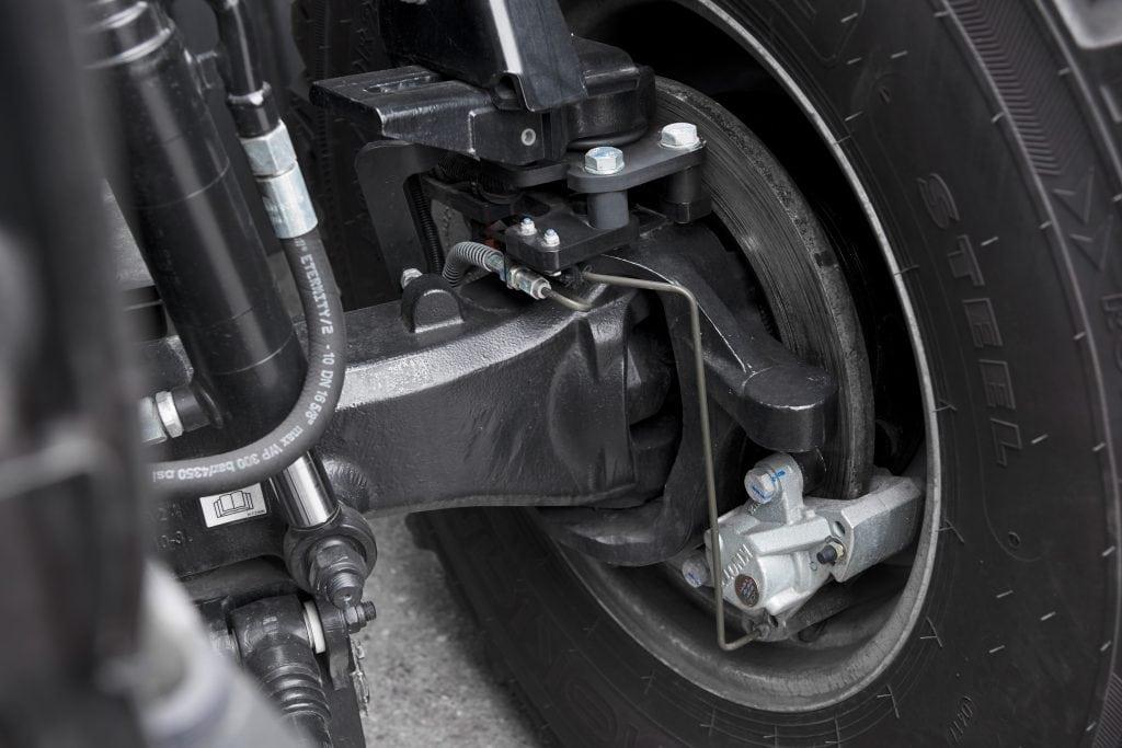Fastrac Kommunal Detailansicht des Bremssystems